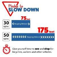 Pledge to Slow Down Stopping Distance Info Graphic